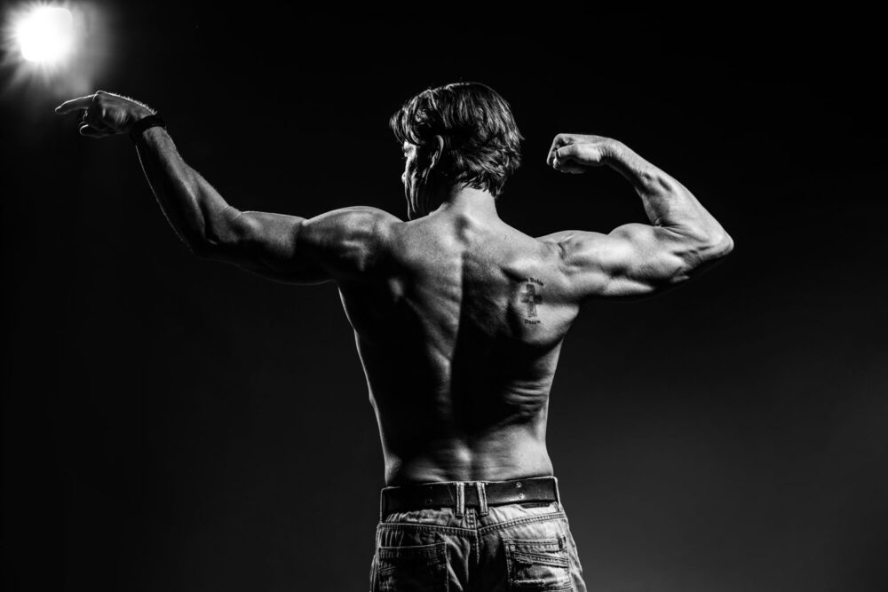 Male bodybuilding photography